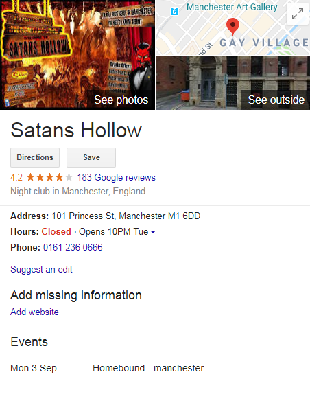 Example of a Knowledge Panel in SERPs