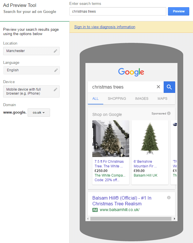 Spy on your competitors' paid search keywords with the AdWords Ad Preview Tool