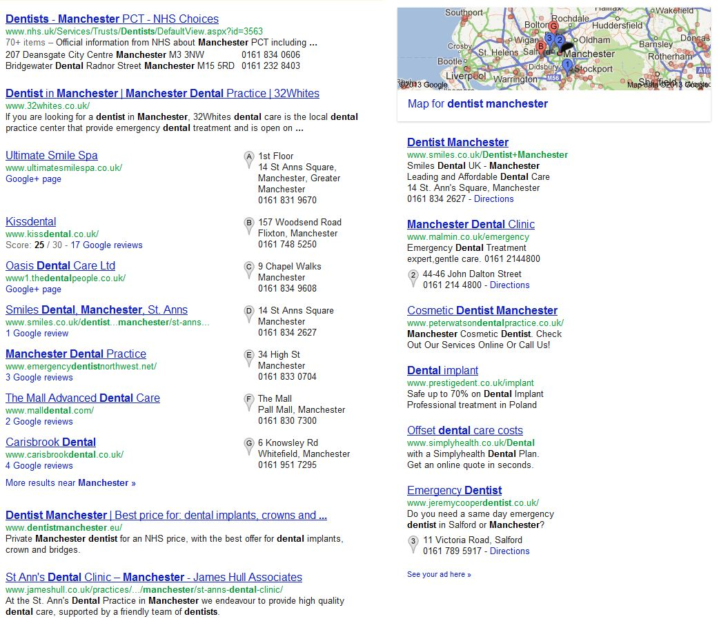 Google Local today