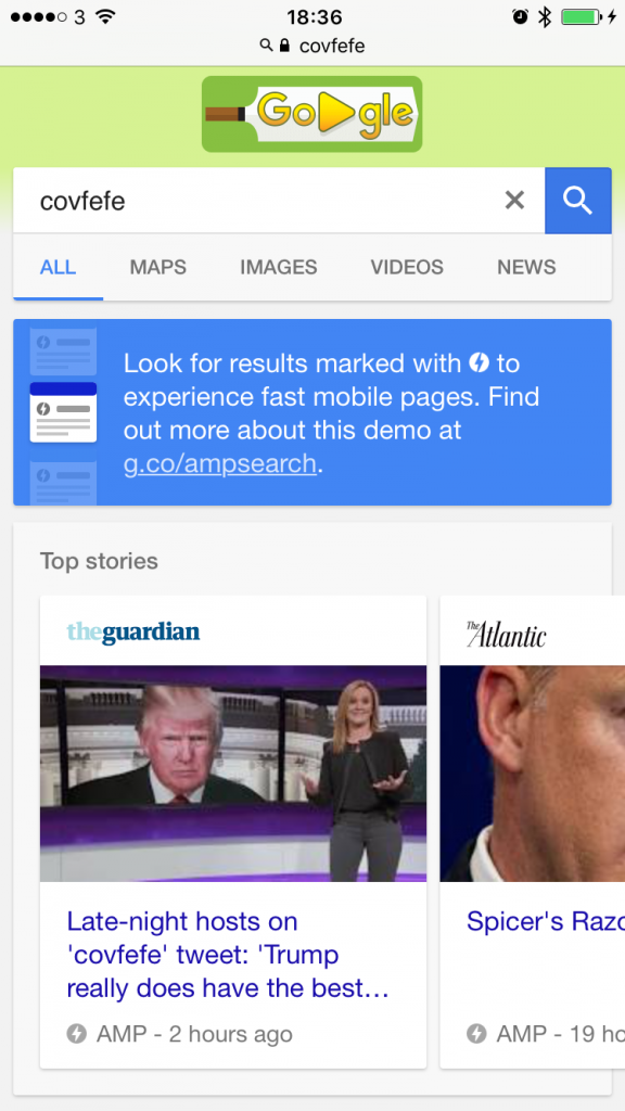 How AMP pages appear in Google's top stories carousel