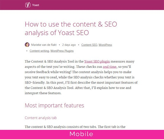 An example of an Accelerated Mobile Page