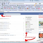 """1) Get your Facebook Status RSS Feed. This is done by logging in, clicking the notifications tab, right clicking the """"Via RSS"""" feed and copying the link."""