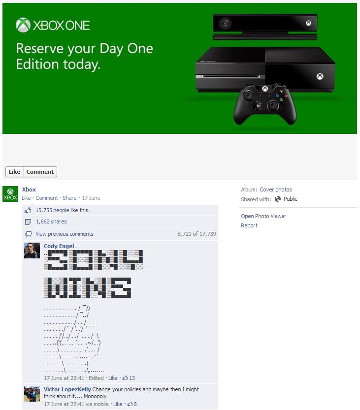 Xbox One on Facebook
