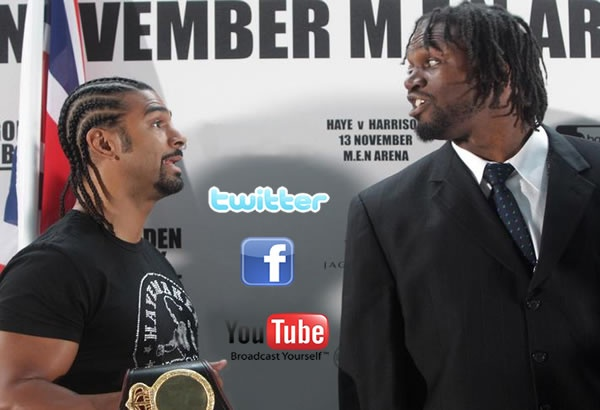 haye v harrison social media battle