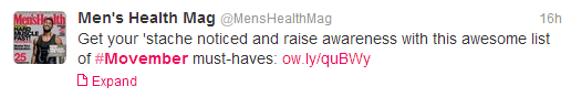 Men's Health, Movember