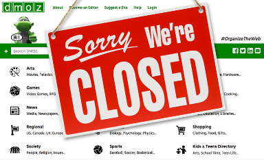 DMOZ closed in March 2017