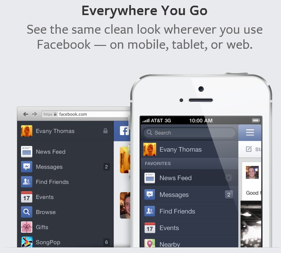 Facebook newsfeed mobile