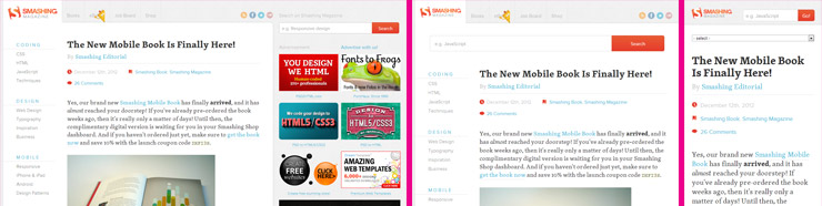 Smashing Magazine Responsive Designs