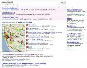 Traditional local search results