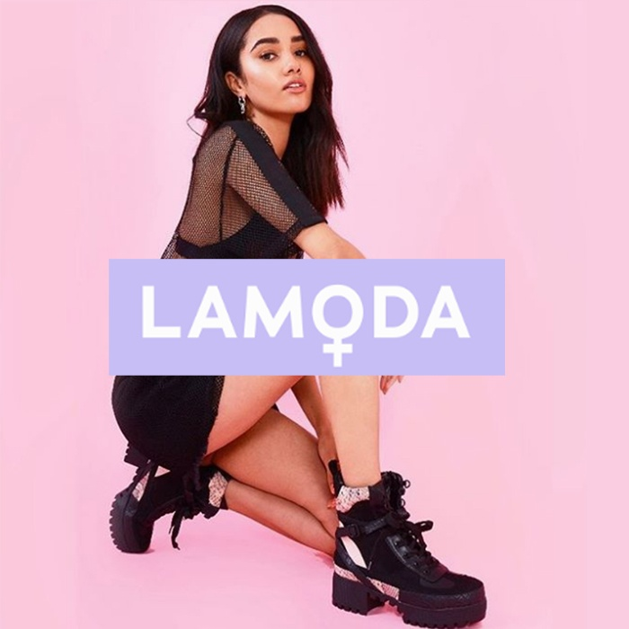 lamoda womens shoes banner