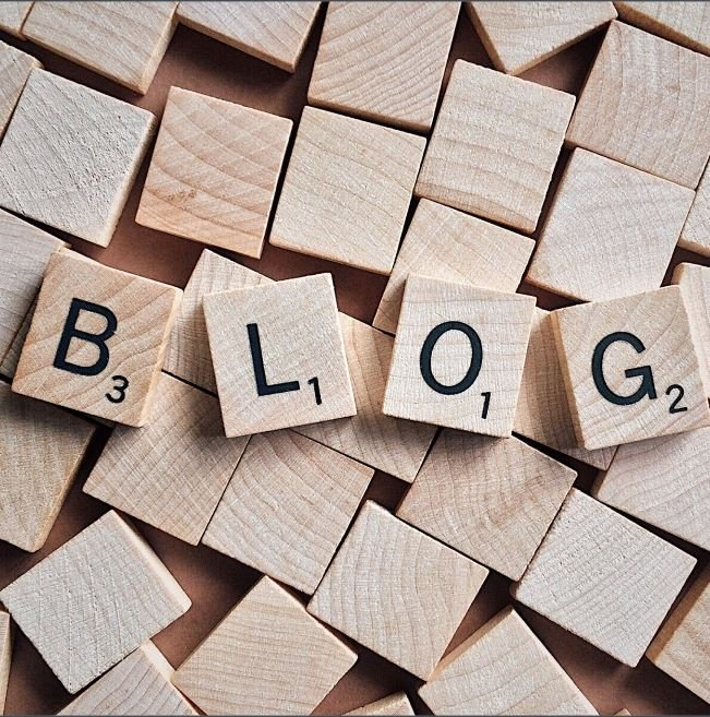 blog in letters